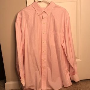 Izod Pink Checkered Button Up XL